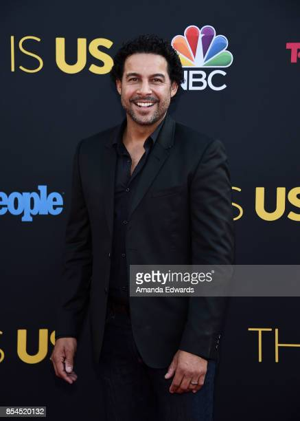 Actor Jon Huertas arrives at the premiere of NBC's 'This Is Us' Season 2 at NeueHouse Hollywood on September 26 2017 in Los Angeles California