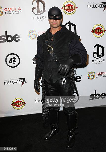 Actor Jon Huertas attends Fred Jason's annual Halloweenie charity event at The Lot on October 26 2012 in West Hollywood California