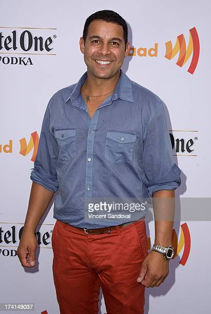 Actor Jon Huertas attends GLAAD's annual foodthemed fundraiser 'GLAAD Hancock Park' on July 20 2013 in Los Angeles California