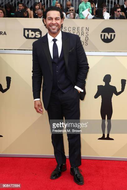 Actor Jon Huertas attends the 24th Annual Screen Actors Guild Awards at The Shrine Auditorium on January 21 2018 in Los Angeles California 27522_017