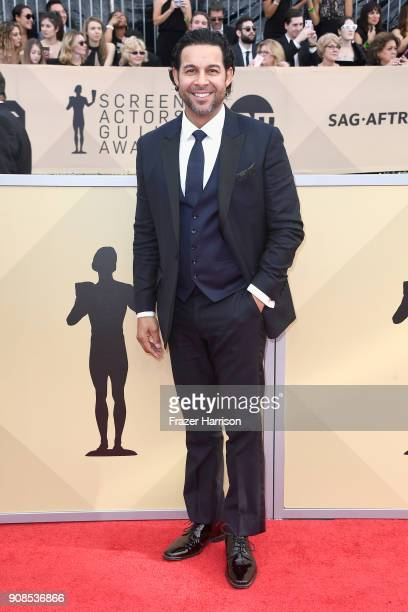 Actor Jon Huertas attends the 24th Annual Screen Actors Guild Awards at The Shrine Auditorium on January 21 2018 in Los Angeles California