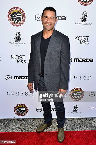 Actor Jon Huertas attends the Festival of Arts Celebrity Benefit Concert and Pageant on August 23 2014 in Laguna Beach California