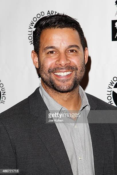 Actor Jon Huertas attends the Hollywood Arts Council's 28th Annual Charlie Awards at Hollywood Roosevelt Hotel on April 25 2014 in Hollywood...