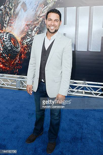 Actor Jon Huertas attends the Los Angeles premiere of 'Battleship' at Nokia Theatre LA Live on May 10 2012 in Los Angeles California