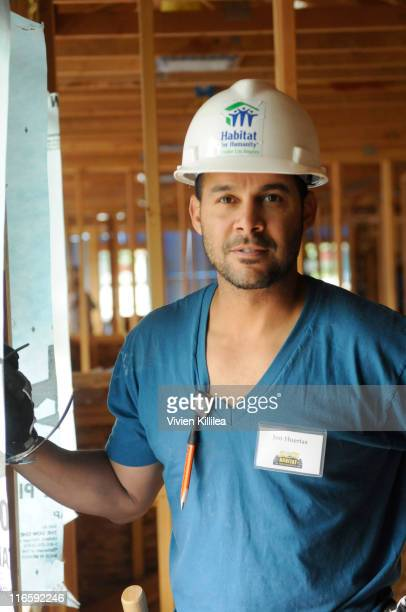 Actor Jon Huertas volunteers at the Hollywood For Habitat For Humanity BuildAThon on June 16 2011 in Burbank California