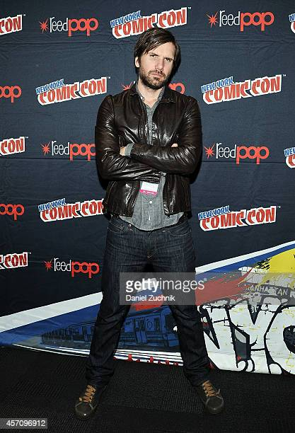 Actor Jon Lajoie attends The League press room at 2014 New York Comic Con Day 3 at Jacob Javitz Center on October 11 2014 in New York City