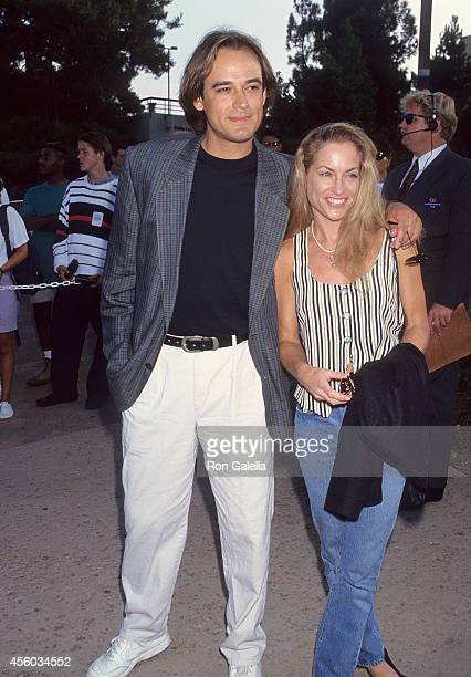Actor Jon Lindstrom and actress Amanda Wyss attend 'An Evening at the Net' Benefit for Revlon/UCLA Women's Cancer Research Program to KickOff the...