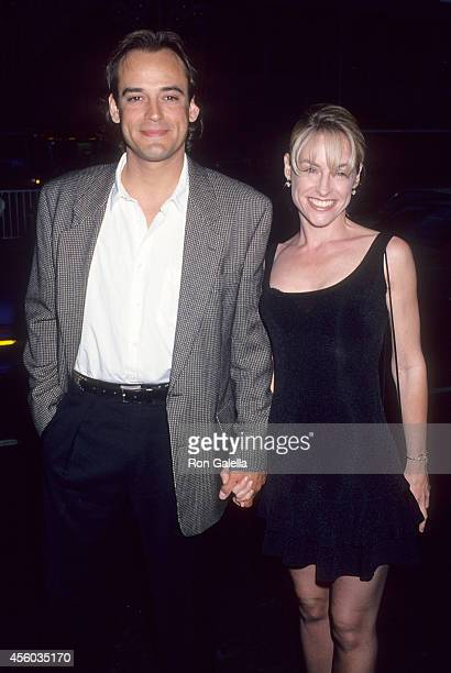 Actor Jon Lindstrom and actress Amanda Wyss attend the ABC Television Affiliates Party on June 9 1994 at Century Plaza Hotel in Century City...