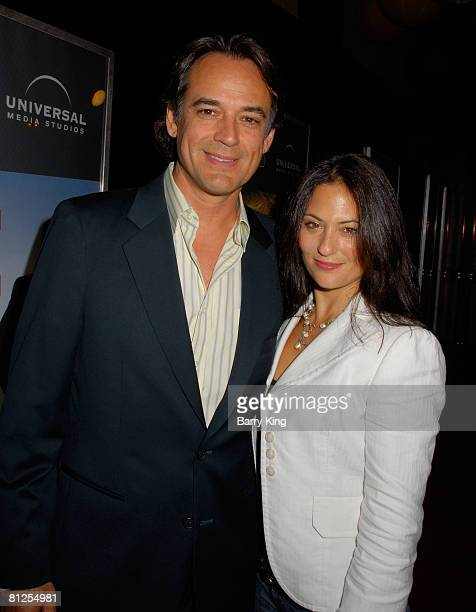 Actor Jon Lindstrom and actress Judie Aronson attend the NBC and Venice Magazine party for new series Life held at Celadon on September 26 2007 in...