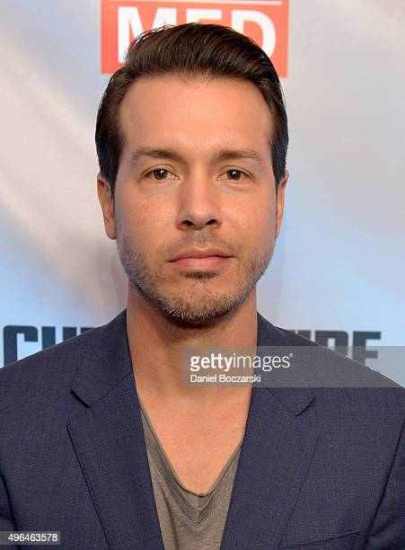 Actor Jon Seda attends a premiere party for NBC's 'Chicago Fire' 'Chicago PD' and 'Chicago Med' at STK Chicago on November 9 2015 in Chicago Illinois...