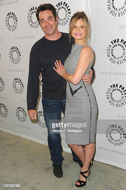 Actor Jon Tenney and actress Kyra Sedgwick attend The Paley Center for Media's An Evening with The Closer on August 10 2011 in Beverly Hills...