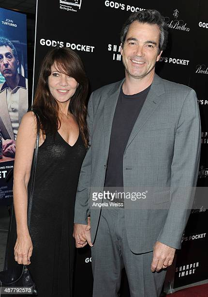 Actor Jon Tenney and his wife Leslie Urdang arrive at the premiere of IFC Films 'God's Pocket' at LACMA on May 1 2014 in Los Angeles California