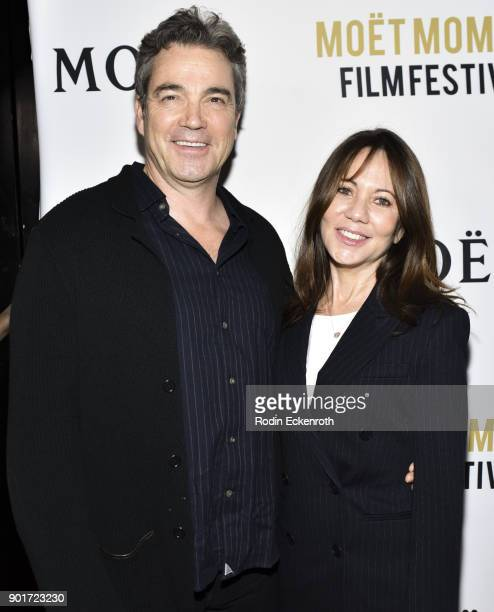 Actor Jon Tenney and producer Leslie Urdang attend Moet and Chandon Celebrates 3rd Annual Moet Moment Film Festival and kick off of Golden Globes...
