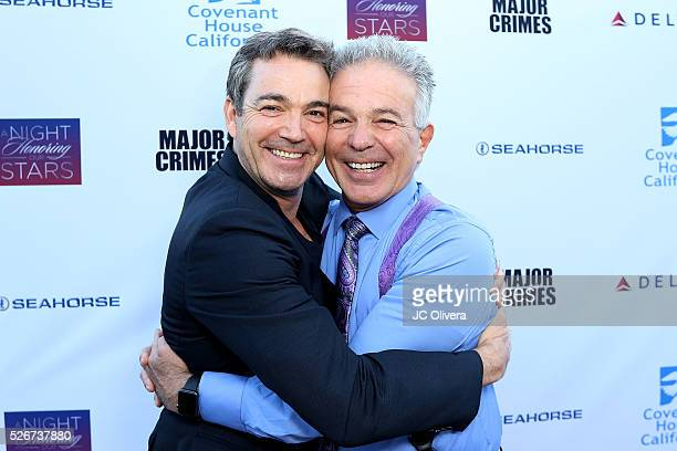 Actor Jon Tenney and Tony Denison attend Covenant House Of California's Annual Fundraising Gala A Night Honoring Our Stars at The Globe Theatre at...