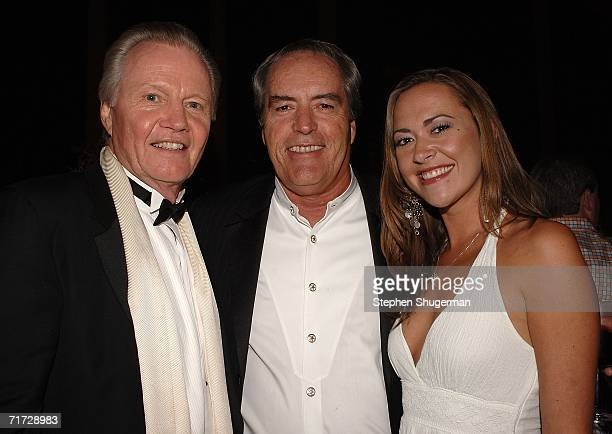Actor Jon Voight actor Powers Boothe and Parisse Boothe attends the HBO Post Emmy Party held at The Plaza at the Pacific Design Center on August 27...