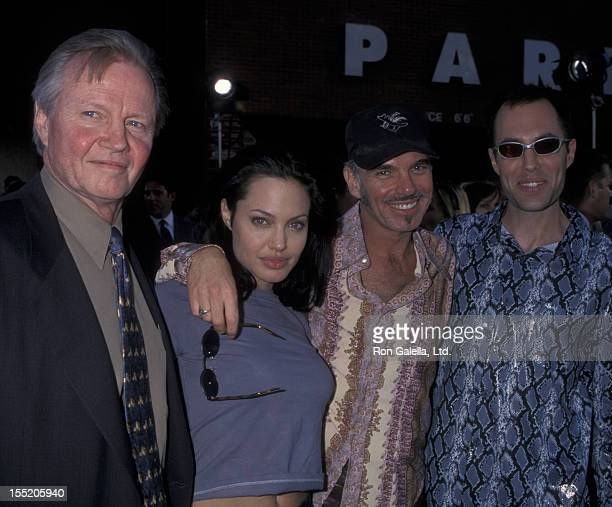 Actor Jon Voight actress Angelina Jolie Billy Bob Thornton and James Haven attend the world premiere of 'Gone In 60 Seconds' on June 5 2000 at Mann...