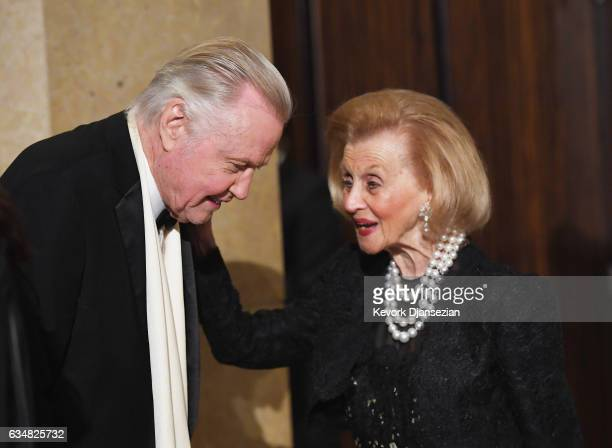 Actor Jon Voight and Philanthropist Barbara Davis attend PreGRAMMY Gala and Salute to Industry Icons Honoring Debra Lee at The Beverly Hilton on...