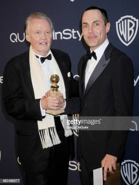 Actor Jon Voight and son James Haven arrive at the 2014 InStyle And Warner Bros 71st Annual Golden Globe Awards postparty at The Beverly Hilton Hotel...