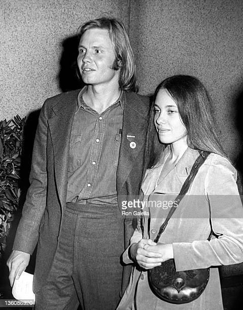 Actor Jon Voight and wife Marcheline Bertrand attend Stars For McGovern Campaign Rally on June 14 1972 at Madison Square Garden in New York City