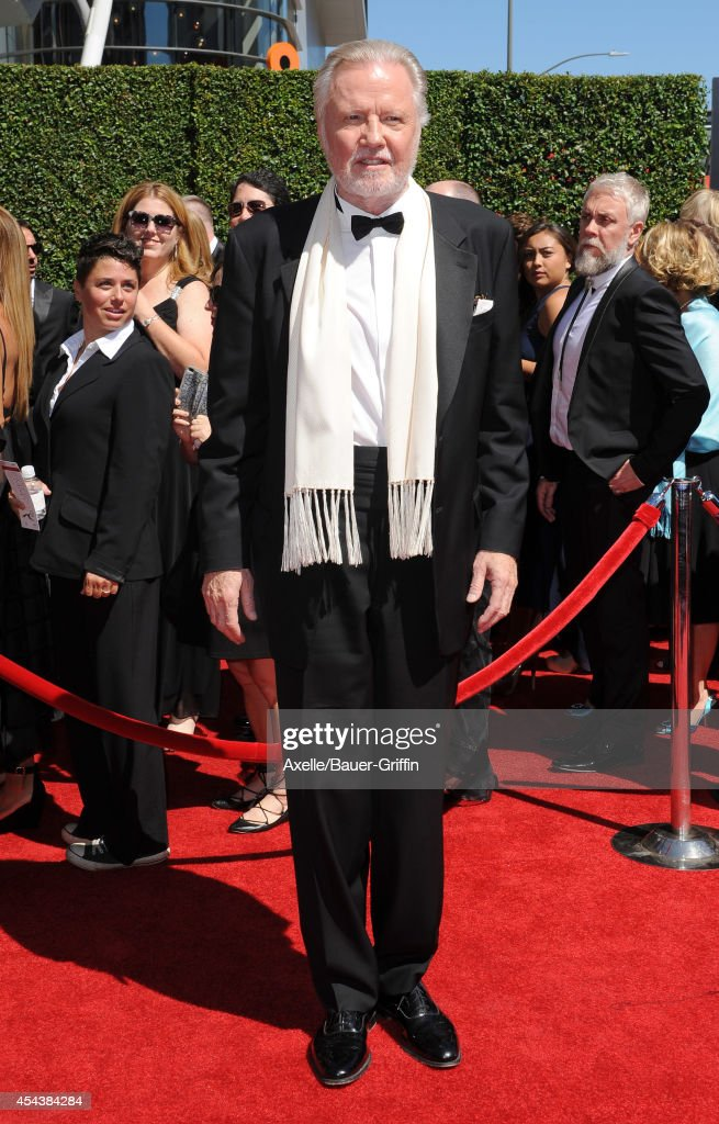 Actor Jon Voight arrives at the 2014 Creative Arts Emmy Awards at Nokia Theatre L.A. Live on August 16, 2014 in Los Angeles, California.