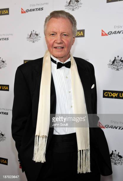 Actor Jon Voight arrives at the 9th Annual G'Day USA Los Angeles Black Tie Gala at the Hollywood Highland Grand Ballroom on January 14 2012 in...