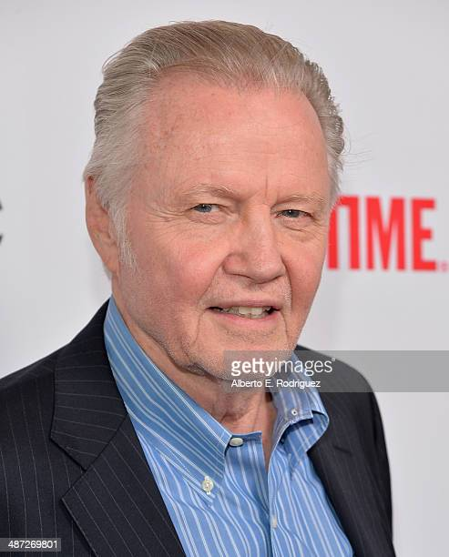 Actor Jon Voight arrives to an exclusive conversation with the cast of Showtime's Ray Donovan at Leonard H Goldenson Theatre on April 28 2014 in...