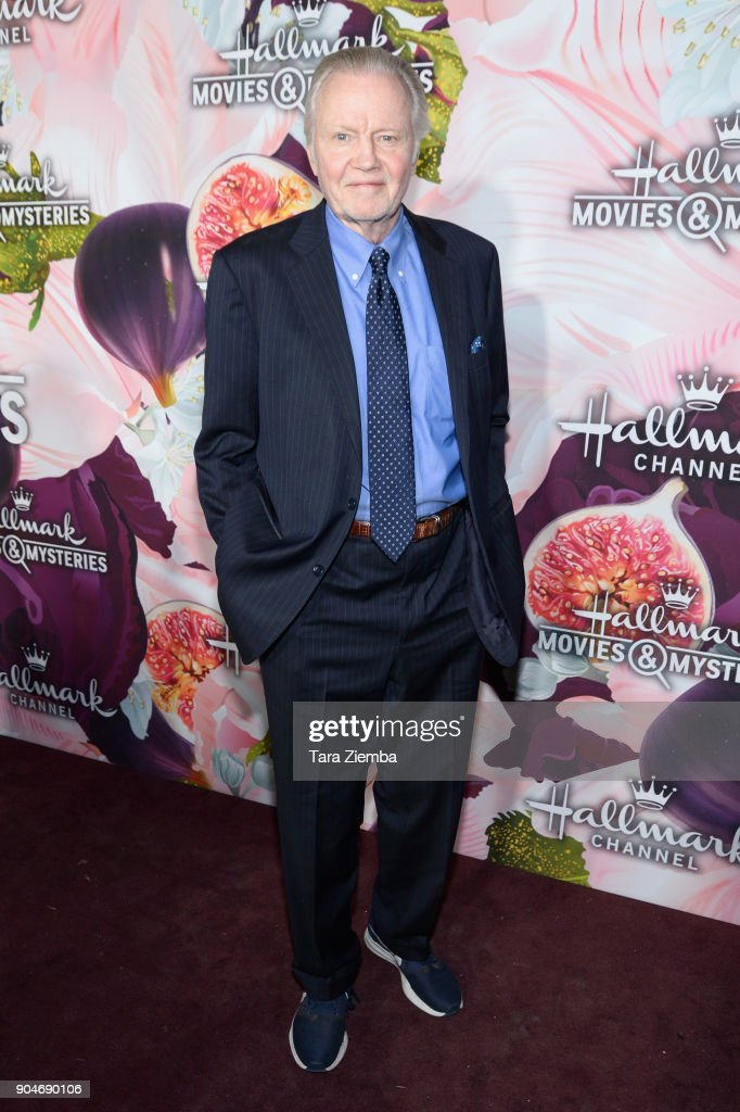 Actor Jon Voight attends Hallmark Channel and Hallmark Movies and Mysteries Winter 2018 TCA Press Tour at Tournament House on January 13, 2018 in Pasadena, California.