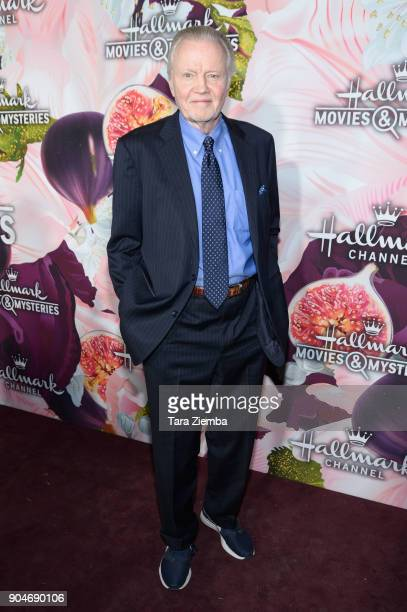 Actor Jon Voight attends Hallmark Channel and Hallmark Movies and Mysteries Winter 2018 TCA Press Tour at Tournament House on January 13 2018 in...