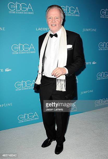 Actor Jon Voight attends the 17th Costume Designers Guild Awards at The Beverly Hilton Hotel on February 17 2015 in Beverly Hills California
