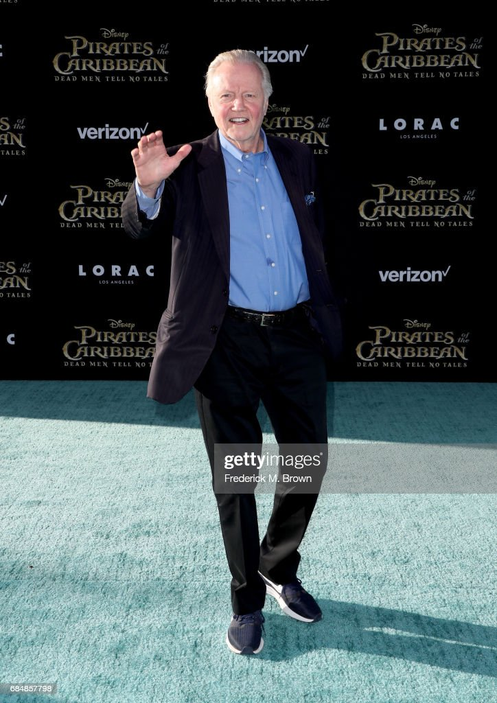 Actor Jon Voight attends the premiere of Disney's 'Pirates Of The Caribbean: Dead Men Tell No Tales' at Dolby Theatre on May 18, 2017 in Hollywood, California.