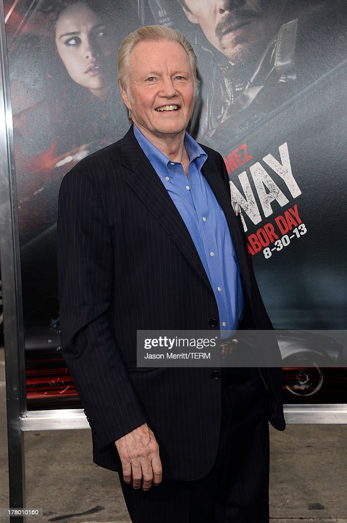 Actor Jon Voight attends the premiere of 'Getaway' presented by Warner Bros. Pictures at Regency Village Theatre on August 26, 2013 in Westwood, California.