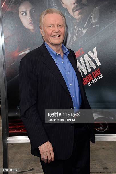 Actor Jon Voight attends the premiere of 'Getaway' presented by Warner Bros Pictures at Regency Village Theatre on August 26 2013 in Westwood...