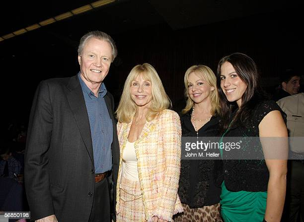Actor Jon Voight Carla Ferrigno Catrina Leffler and Shanna Ferrigno were among the family and friends that watched Actor and World Champion body...