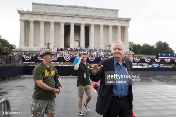 Actor Jon Voight greets crowds during the opening festivities of President Donald Trump's Salute to America ceremony in front of the Lincoln Memorial...