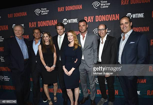 Actor Jon Voight Jeff Hirsch EVP and CMO Time Warner Cable Executive Producer Ann Biderman actor Dash Mihok Paula Malcomson Liev Scheiber Matthew C...