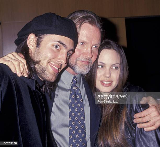 Actor Jon Voight son James Haven and Angelina Jolie attend 25th Anniversary Screening of Midnight Cowboy on February 16 1994 at the Director's Guild...