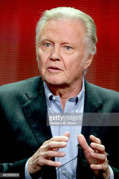 Actor Jon Voight speaks onstage at the 'Ray Donovan' panel during the SHOWTIME Network portion of the 2014 Summer Television Critics Association at...
