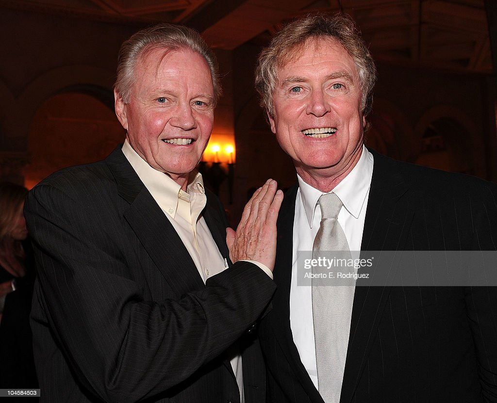 Actor Jon Voigt (L) and director Randall Wallace attend the premiere of Walt Disney Pictures' 'Secretariat' after party at the on September 30, 2010 in Hollywood, California.