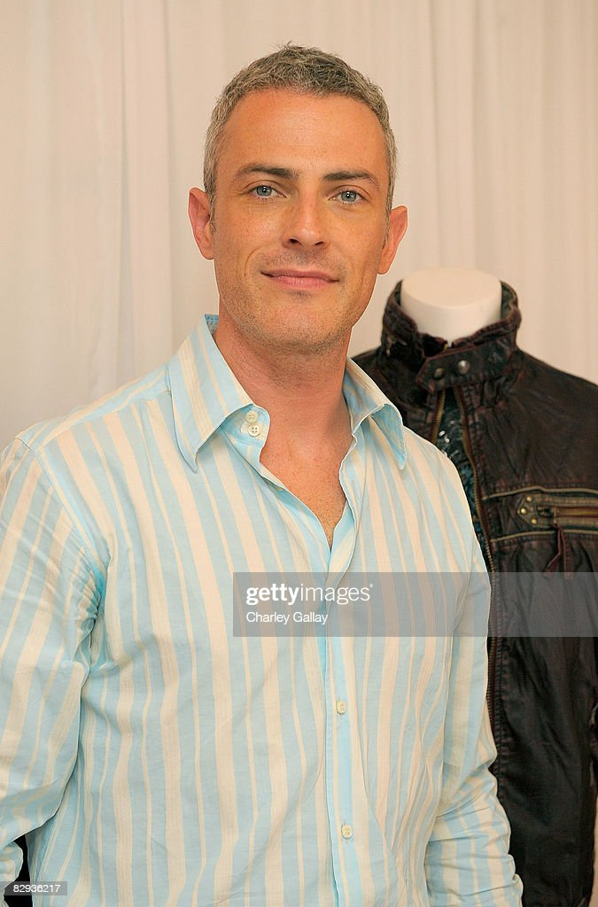 Actor Jon Wolfe Nelson poses with the Monarchy Collection display during the HBO Luxury Lounge in honor of the 60th annual Primetime Emmy Awards featuring the In Style diamond suite, held at the Four Seasons Hotel on September 21, 2008 in Beverly Hills, California.