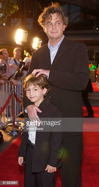 Actor Jonah Bobo and writer/director Jordan Roberts attend the premiere of Warner Bros Around the Bend at the DGA on September 21 2004 in Hollywood...