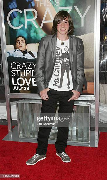 Actor Jonah Bobo attends the Crazy Stupid Love World Premiere at the Ziegfeld Theater on July 19 2011 in New York City