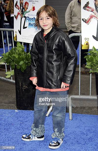 Actor Jonah Bobo attends the premiere of Dreamworks Animation's new feature Flushed Away at AMC Lincoln Square October 29 2006 in New York City