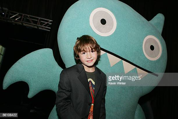 Actor Jonah Bobo poses at the afterparty for the premiere of Columbia Picture's Zathura A Space Adventure at Barker Hanger November 6 2005 in Santa...