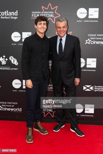 Actor Jonah HauerKing and director and actor Danny Huston attend a photocall for the world premiere of The Last Photograph during the 71th Edinburgh...