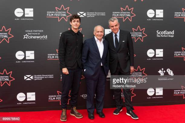 Actor Jonah HauerKing writer Simon Astaire and director and actor Danny Huston attend a photocall for the world premiere of The Last Photograph...
