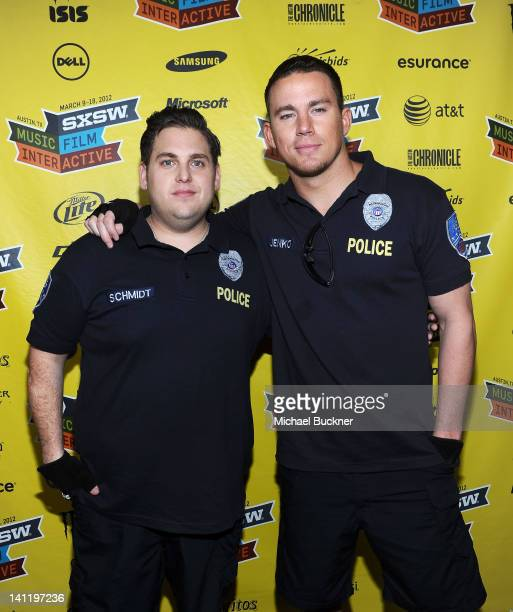 Actor Jonah Hill and actor Channing Tatum attend the World Premiere of '21 Jump Street' during the 2012 SXSW Music Film Interactive Festival at...