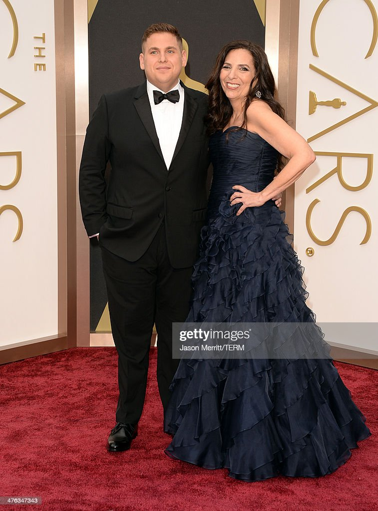 Actor Jonah Hill and Sharon Lyn Chalkin attends the Oscars held at Hollywood & Highland Center on March 2, 2014 in Hollywood, California.