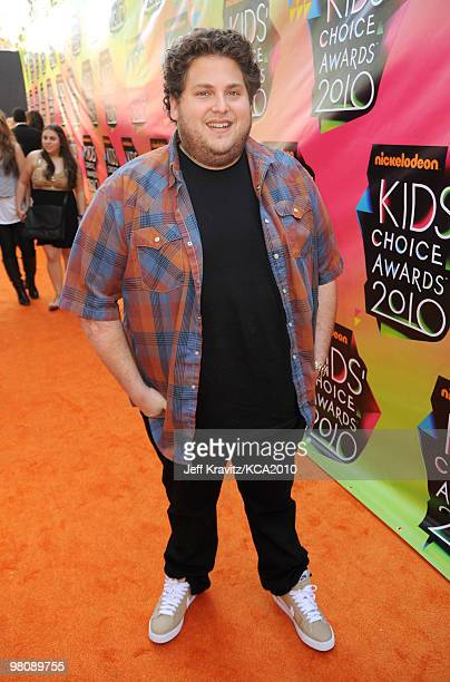Actor Jonah Hill arrives at Nickelodeon's 23rd Annual Kids' Choice Awards held at UCLA's Pauley Pavilion on March 27, 2010 in Los Angeles, California.