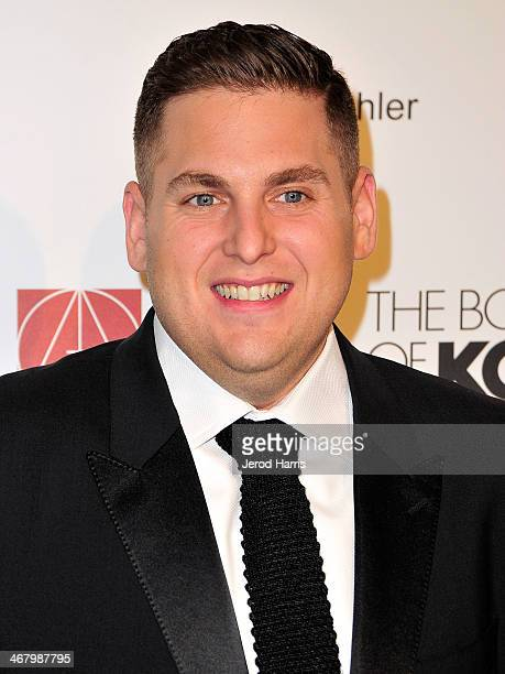Actor Jonah Hill arrives at the 18th Annual Art Directors Guild Excellence in Production Design Awards at The Beverly Hilton Hotel on February 8 2014...