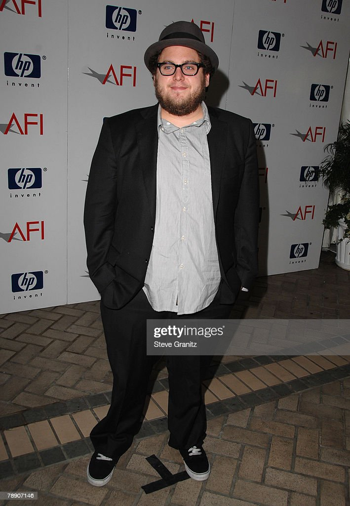 Actor Jonah Hill arrives at the 2008 AFI Luncheon held at the Four Seasons Hotel on January 11, 2008 in Los Angeles, California.